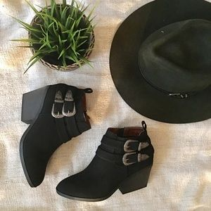 Shoes - 1 left!! MADELINE Double Buckle Bootie