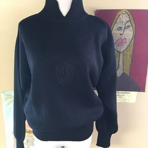 Bogner Sweaters - Bogner Black Mock Turtle Pullover Sweater