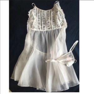 Victoria's Secret Designer White Silk Nightie S