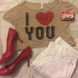 ❤️ Valentines Day Crop top ❤️
