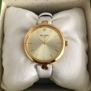 Kate Spade White and Gold Watch