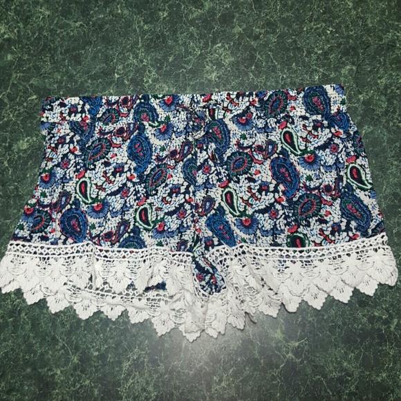 Breeze Ever Shorts Paisley Crochet Boho Poshmark