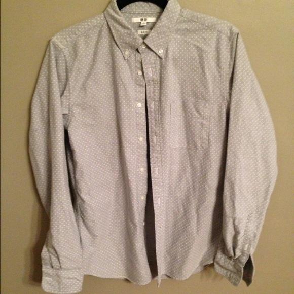 c6f5b258cea7cf Uniqlo Buttondown Shirt Dotted. M_58829e68fbf6f910d201fda2
