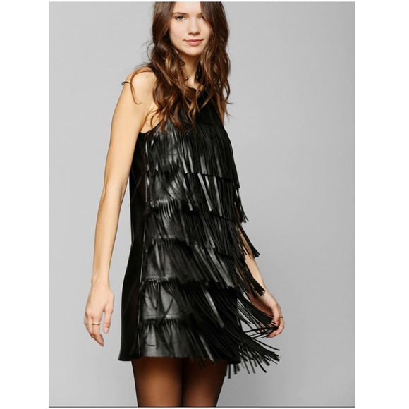 Fringe Sleeve Dress Urban Outfitters