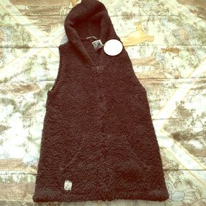 Barefoot Dreams Sweaters - Barefoot Dreams Cozychic  Brown Hooded Vest NWT