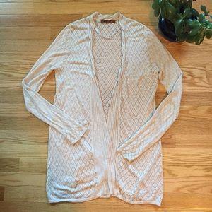 Belldini Sweaters - Belldini Diamond Knit Open Cardigan