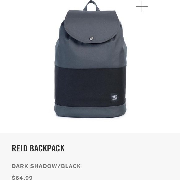 b41e139f1e NWT Herschel Reid Backpack Dark Shadow Black