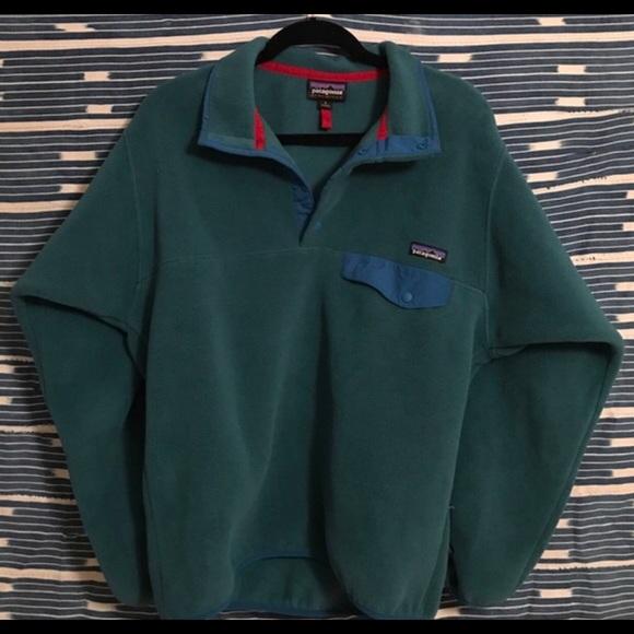 Patagonia - Dark Green Men's Patagonia Fleece Pullover from ...
