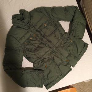 J. Crew Down Puffer Jacket Medium Green