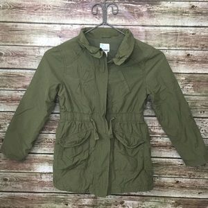 Old Navy Other - Girls Army Green Cargo Utility Jacket M 8/10