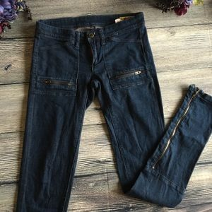 Blank NYC Denim - 💚Blank Dark Wash Size 25 Skinny jean with zippers
