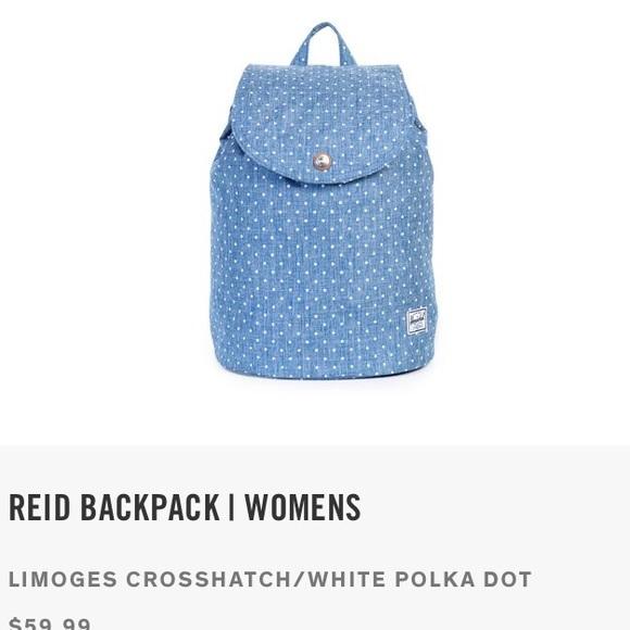 b5783f738a NWT Herschel Reid Backpack Limoges Crosshatch