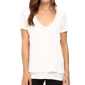 Free People Phoebe tee in ivory