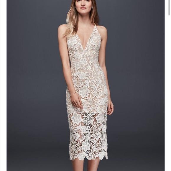 Whitenude Lace Midi Dress