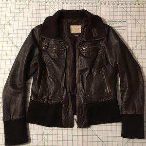Jackets & Blazers - Vintage Brown leather jacket