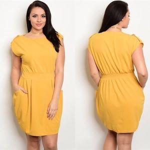 Dresses & Skirts - ON $ALE reg $38 1X, 2X, 3X Lovely Yellow Dress