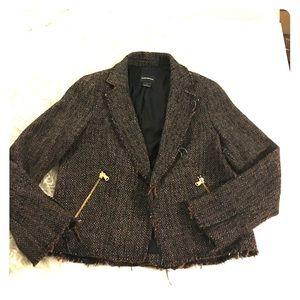 Club Monaco Jackets & Blazers - Club Monaco Brown Tweed Blazer Jacket