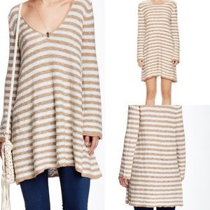 Free People Sweaters - Nwt free people striped swing tunic reversible l