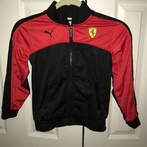 Kids Puma Ferrari track jacket size 6