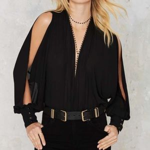 NASTY GAL PLUNGE BODY SUIT