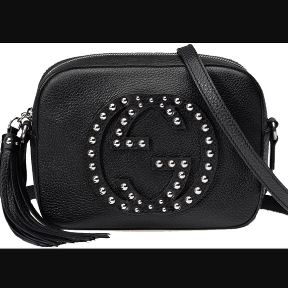 a394b178332 Gucci Handbags - Gucci Studded Soho Disco Bag in Black