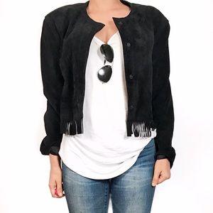 henri bendel Jackets & Blazers - Vintage Henri bendel leather fringe jacket