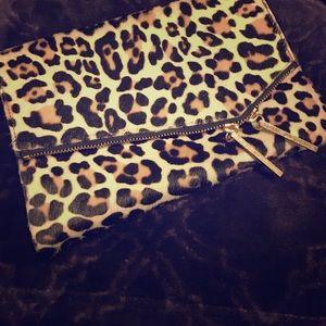 Elaine Turner Handbags - Elaine Turner Faux Leopard Clutch