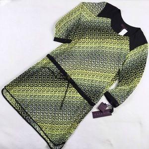 Hale Bob Dresses & Skirts - Hale Bob Yellow Geometric Drop Waist Dress NWT