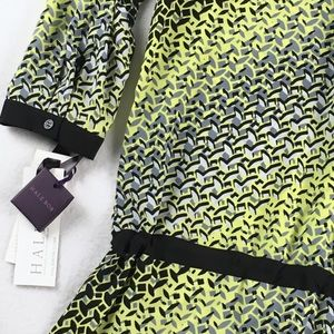 Hale Bob Dresses & Skirts - Hale Bob Yellow Geometric Drop Waist Dress NWT