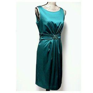 Eliza J. Embellished Teal Dress