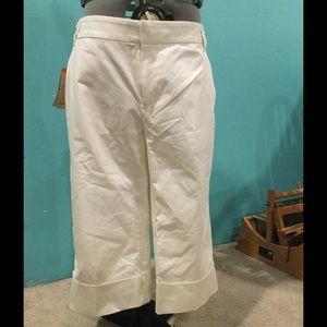 Weatherproof Pants - White cuffed capris size women's 14. Reposh!