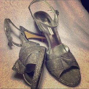 Caparros Shoes - Caparros silver sparkle heel in box!