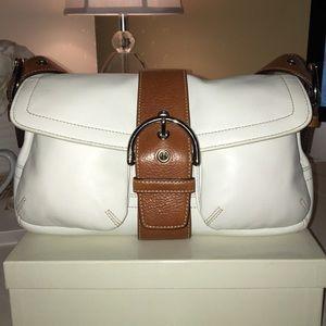 White Leather Coach Bag