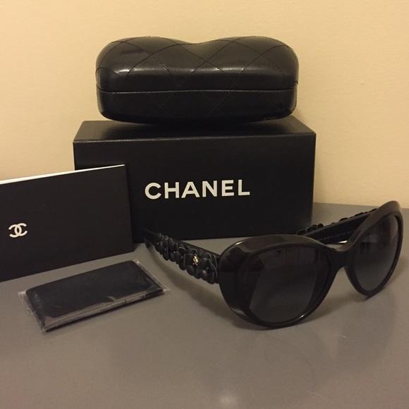 825a7a08711e CHANEL Accessories | Bn Black Camellia Sunglasses Wcase Box | Poshmark