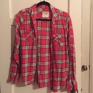 Abercrombie & Fitch Tops - Red A&F flannel