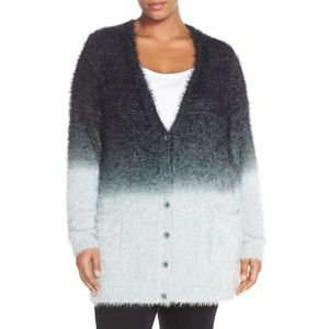 Melissa McCarthy Sweaters - Plus Size Button-Down Eyelash Cardigan. B074