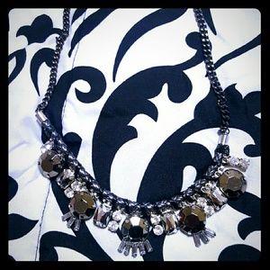 Express Jewelry - Express Gunmetal Statement Necklace
