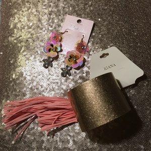 Jewelry - 🎉NWT 2 Piece Jewelry Bundle. Earrings & Bracelet