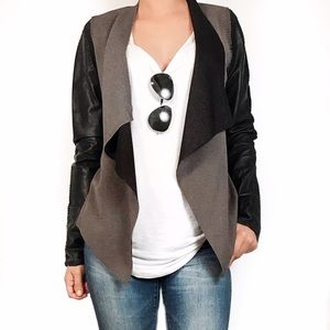 Stella & Jamie leather cardigan