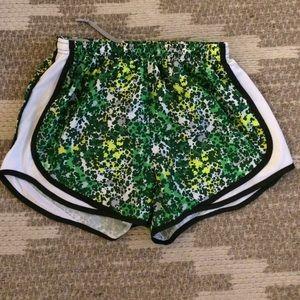 [nike] patterned dri fit shorts