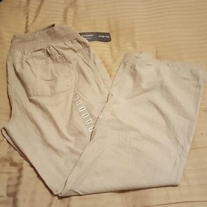 Tan Maternity Slacks