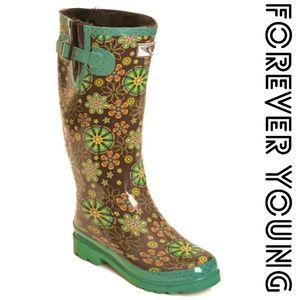 Women Tall Lined Rainboots, #1527, Spring Fling