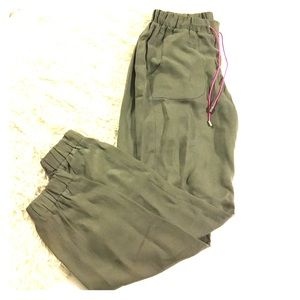 French Connection Pants - French Connection Olive Green Harem Joggers