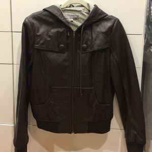 MM Couture Jackets & Blazers - MM Couture Chocolate Brown leather Jacket