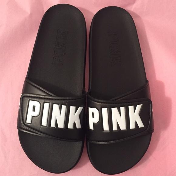 black pink sandals