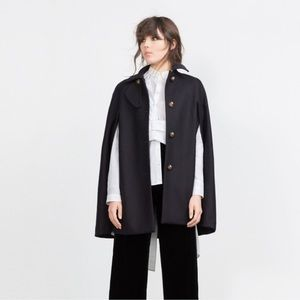 Zara Jackets & Blazers - Navy Blue Zara Cape
