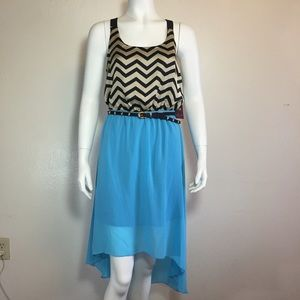 Dresses & Skirts - High low belted dress