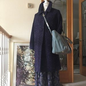 Jackets & Blazers - Scottish Purple Heather Tweed Vintage Coat Small