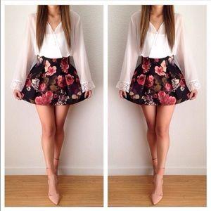 Ava floral skater skirt