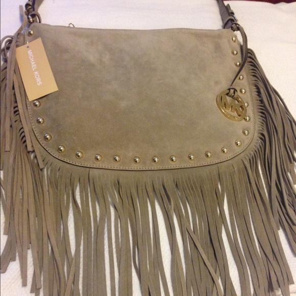 Well known Michael Kors Bags | Dakota Suede Fringe Bag | Poshmark NU08